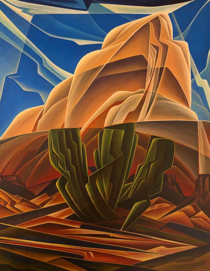 """Desert Modern"" 20 x 16 Acrylic on panel"
