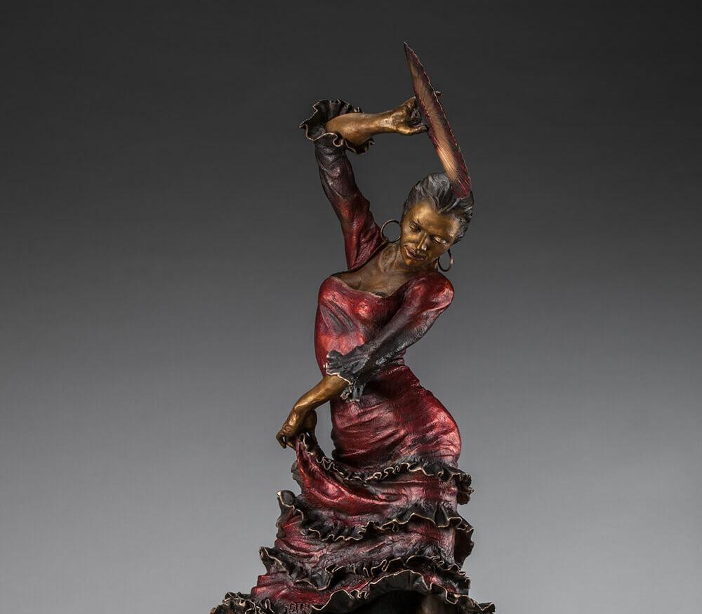 Flamenco Dancer Bronze Sculpture 44x20 14300 1