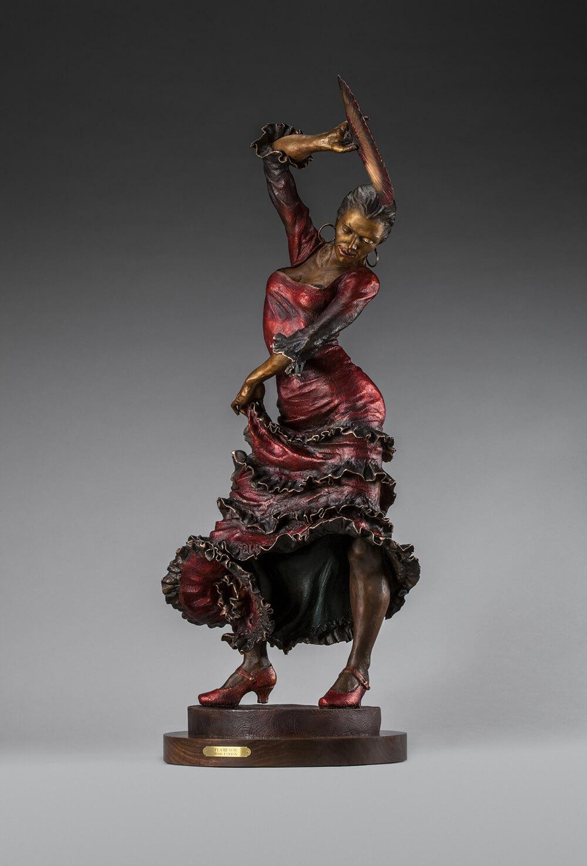 Flamenco Dancer Bronze Sculpture 44x20 14300