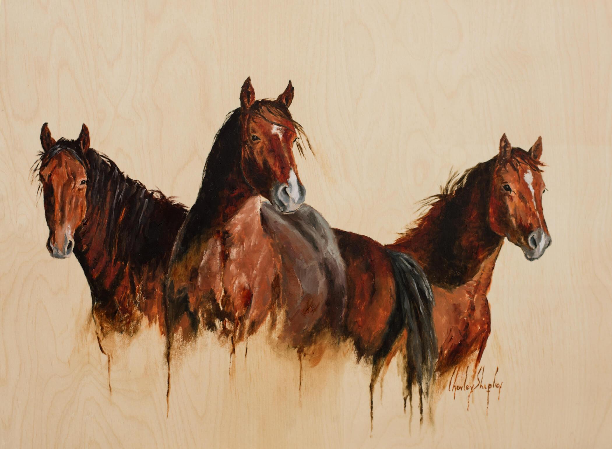 Tres Amigos. 18x24. 2900