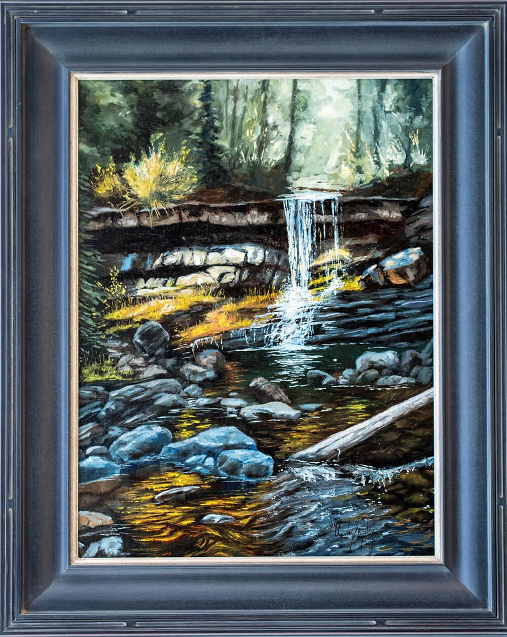 Wilderness Falls. 24x18. 3500